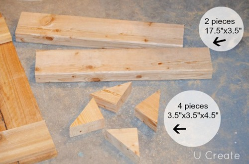 DIY Bathroom Shelf Measurements