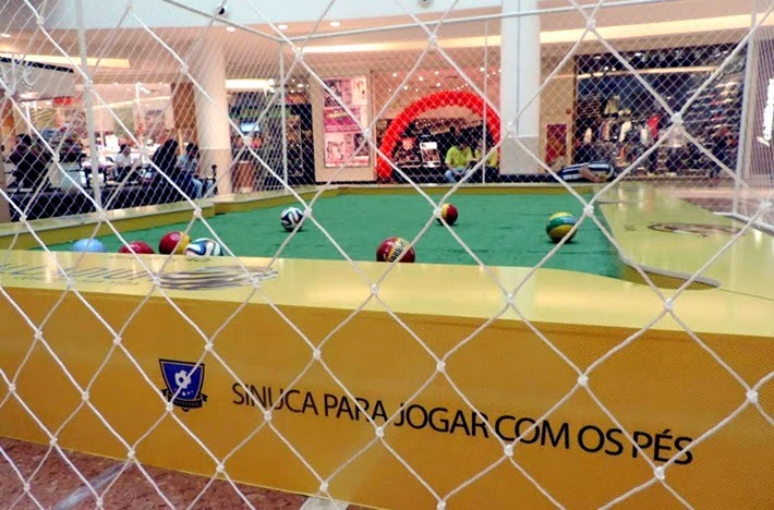 sinuca futebol snookerbol shopping palladium