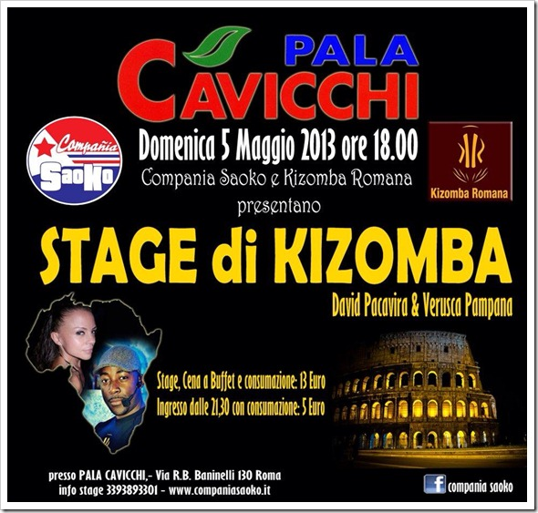 David Pacavira, stage di Kizomba al Palacavicchi
