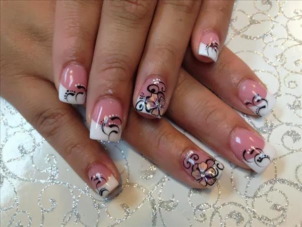cute french tip nail designs nail designs hair styles tattoos and