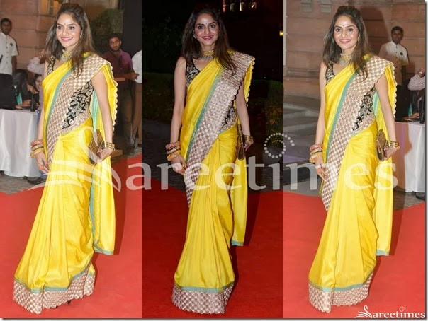 Madhu_Bala_Yellow_Silk_Saree