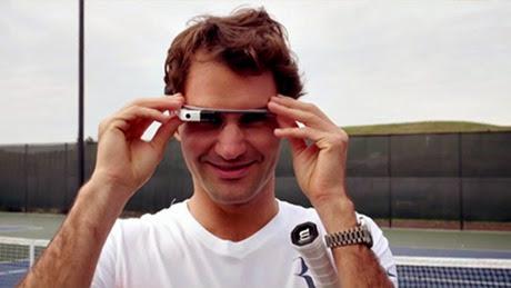 Roger Federer usando Google Glass