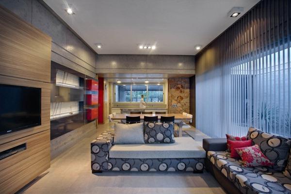 Casa moderna fioretti por a4 estudio arquitexs for Casas modernas hormigon visto