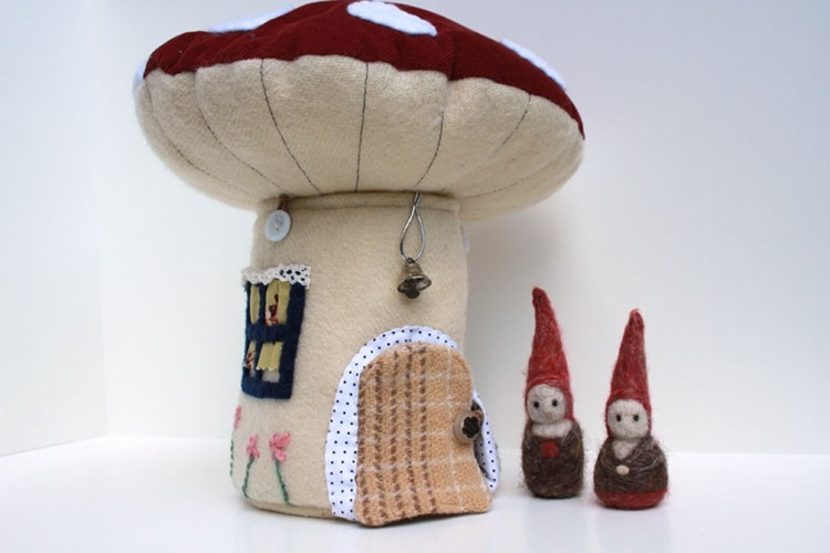 Toadstool house front door by Big Little