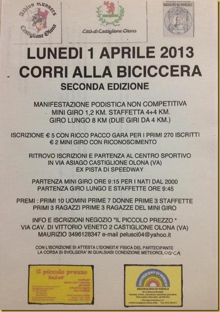 01.04.13 Corri alla Biciccera, Castiglione Olona
