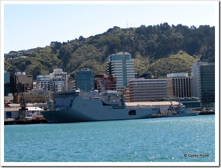 HMNZS Canterbury with Pukai and Hawea astern