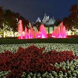 Canada's Wonderland by night in Vaughan, Ontario, Canada