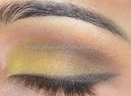 Yellow Sunflower Eye Makeup