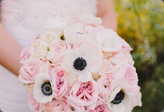 anemone bouquet AS Anna Jones Photography and cori cook