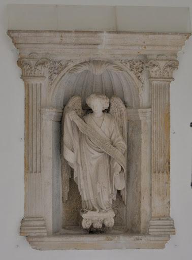 Gothic angel sculpture