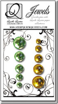 green and yellow jewels