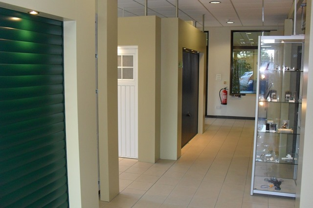 Garador garage door display showroom in Yeovil