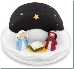waitrose gingerbread scene cake