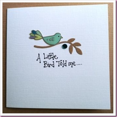 A Little Bird Told me card 1