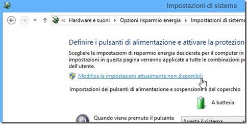 Impostazioni di sistema Windows 8 e 8.1