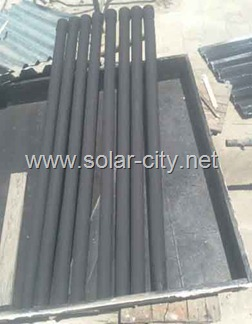 homemade solar water heater  tubes- solar city