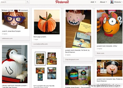 Pinterest Book Character Pumpkins