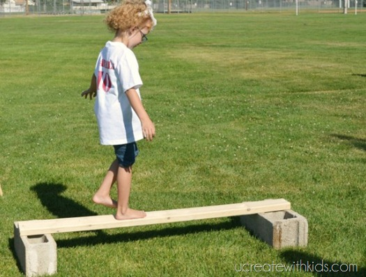 DIY Olympic Games Balance Beam