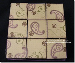 Rock the Block - paisley stamped background
