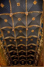 Segovia,  alcazar ceiling 2