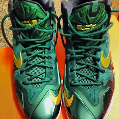 nike lebron 11 pe svsm away 2 01 First Look at Nike LeBron XI (11) SVSM Irish Away PE