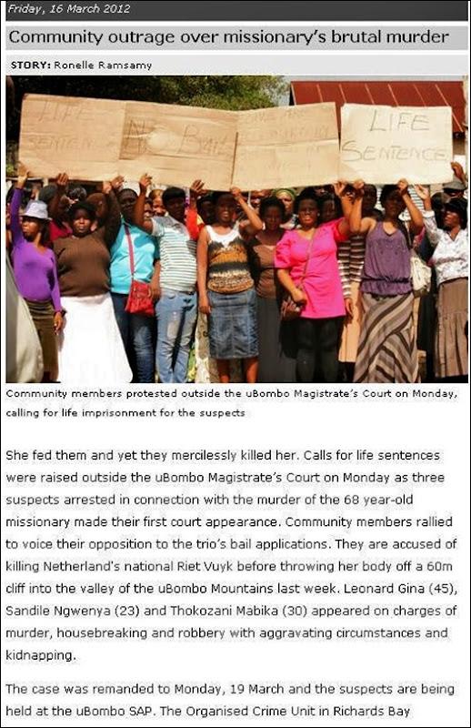 VUYK UBOMBO COMMUNITY PROTEST FRI MAR 16 2012