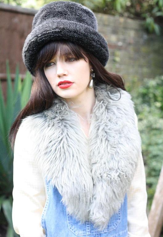80's Grey Faux Fur Collar, £16, Bohemianrose Vintage