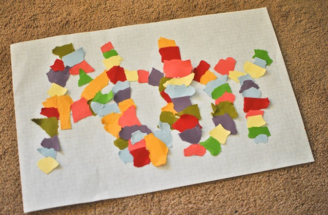 ripped paper easy toddler art-3