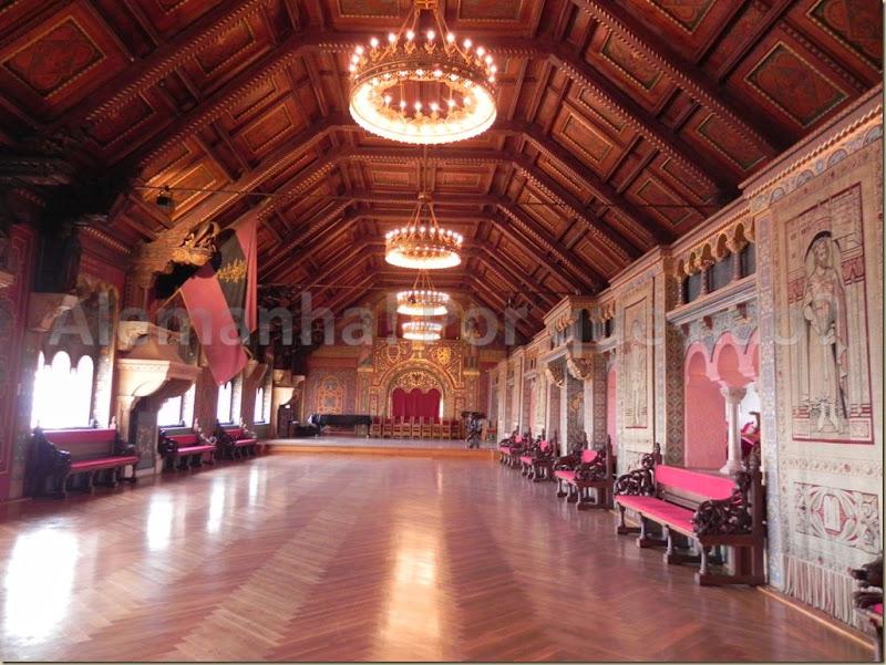 Festsaal, impressionante salão do castelo