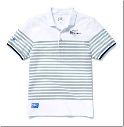 Monster University X Giordano - Stripes Polo Shirt Grey