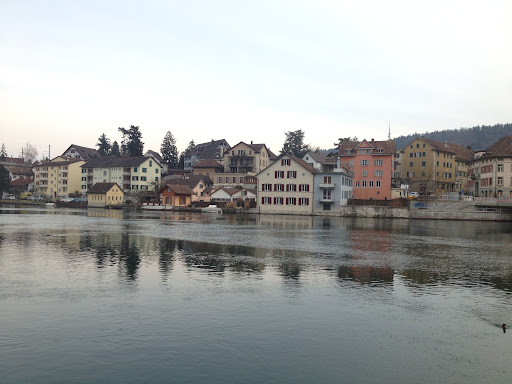 The gorgeous, pastel colored homes along the river Rheine could have fit in with the color palette for our spring issue.