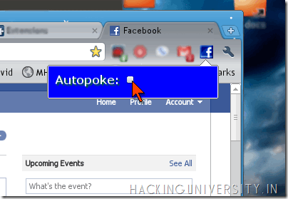 Auto Poke Back Friends in Facebook