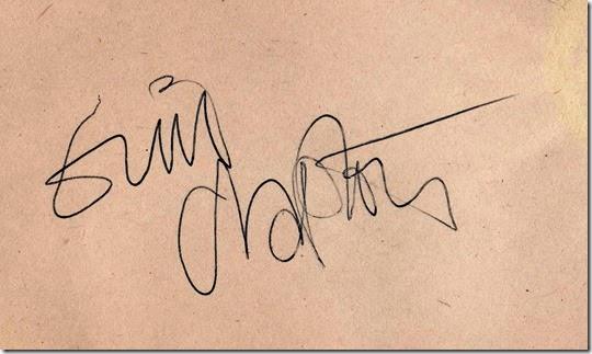 clapton autograph