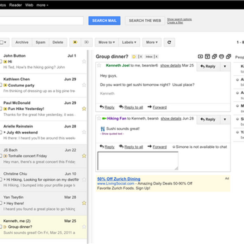 Gmail Adds Outlook/Thunderbird Like Preview Pane
