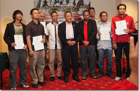 Winners of 2nd Kuantan Grand Finale Rapid Chess Championship 2012 Pahang