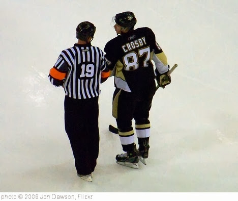 'Crosby chats w/ ref' photo (c) 2008, Jon Dawson - license: http://creativecommons.org/licenses/by-nd/2.0/
