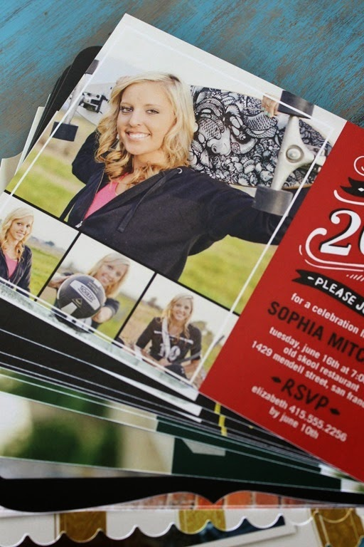 grad cards from Shutterfly