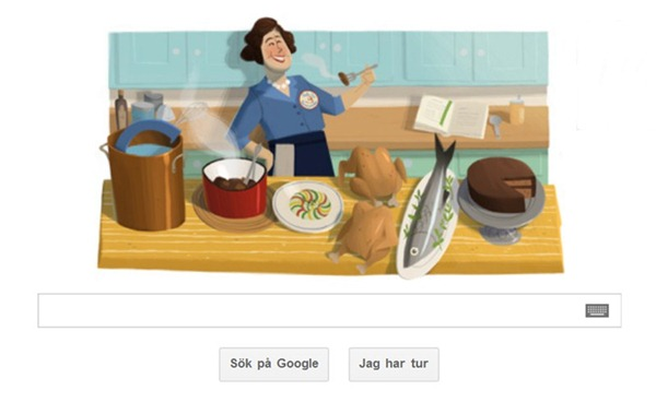 Julia Child on Google doodle