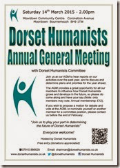 Dorset Humanists AGM 14 March 2015