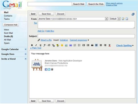 Insertar imagen en firma de email en Gmail