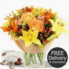 FREE DELIVERY Flowers & Bouquets - Autumn & Chocolates