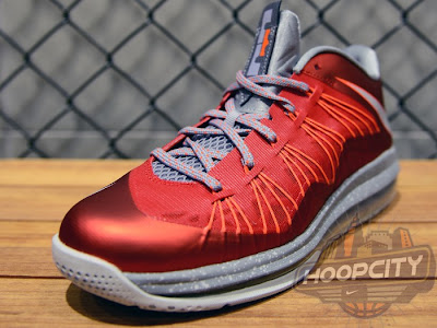 nike lebron 10 low gr ohio state 2 03 Upcoming Nike Air Max LeBron X Low University Red / Grey