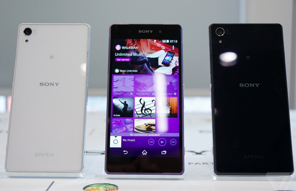 xperia z2 on display\