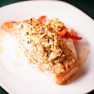 Fish baked with crab meat recipes yummly for Crab topping for fish