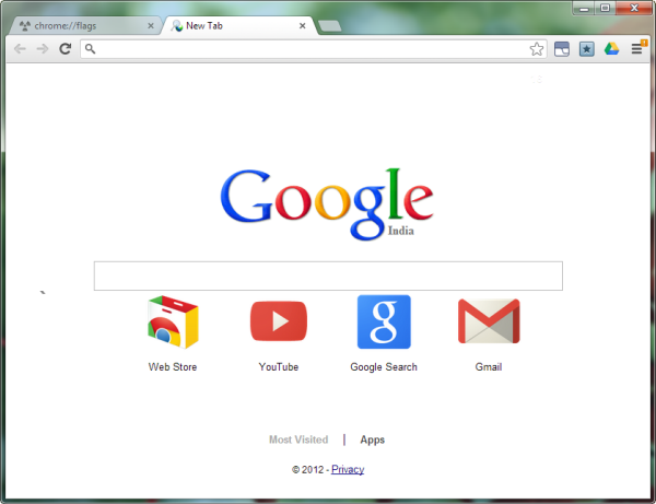 How to Embed Google Search Box in Chrome's New Tab Page - Instant Fundas