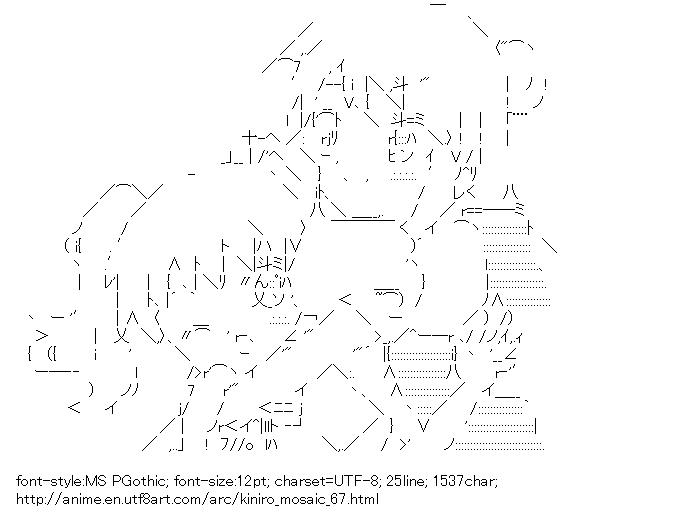 Kiniro Mosaic,Cartalet Alice,Kujo Karen