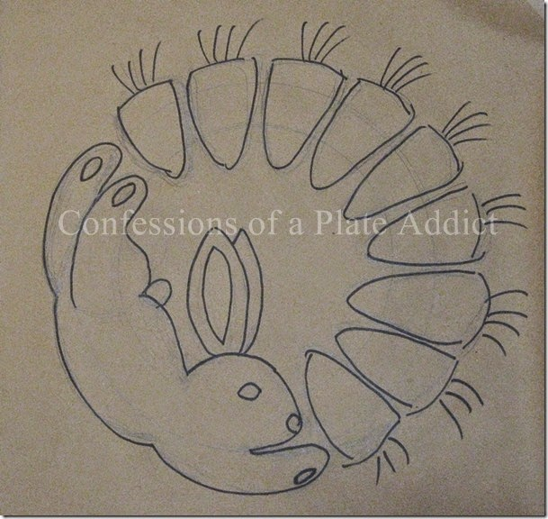 CONFESSIONS OF A PLATE ADDICT Bunny and Carrot Wreath design watermarked