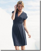 Curved Waistband Jersey Dress