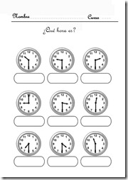 aprender la hora 3 5