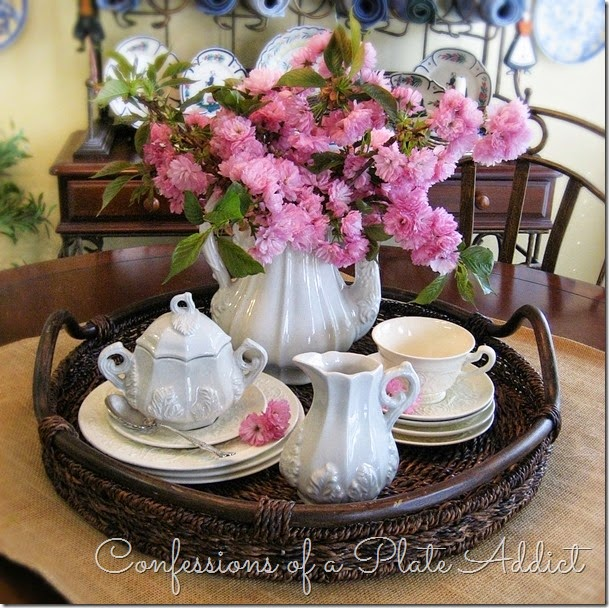 CONFESSIONS OF A PLATE ADDICT Bringing in Spring Centerpiece